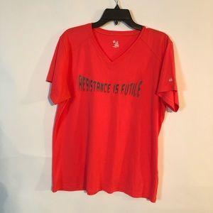 Badger Sport Resistance Is Futile Orange Shirt XL